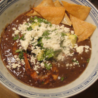 Rick Bayless's Black Bean Soup.