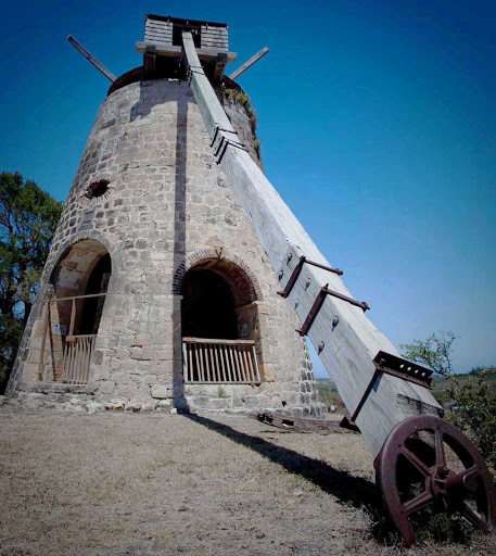 structure-Antigua - A structure — perhaps an abandoned windmill? — in Antigua.