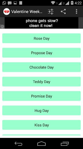 Valentine Week SMS