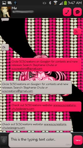 GO SMS - Sugar Skulz 2