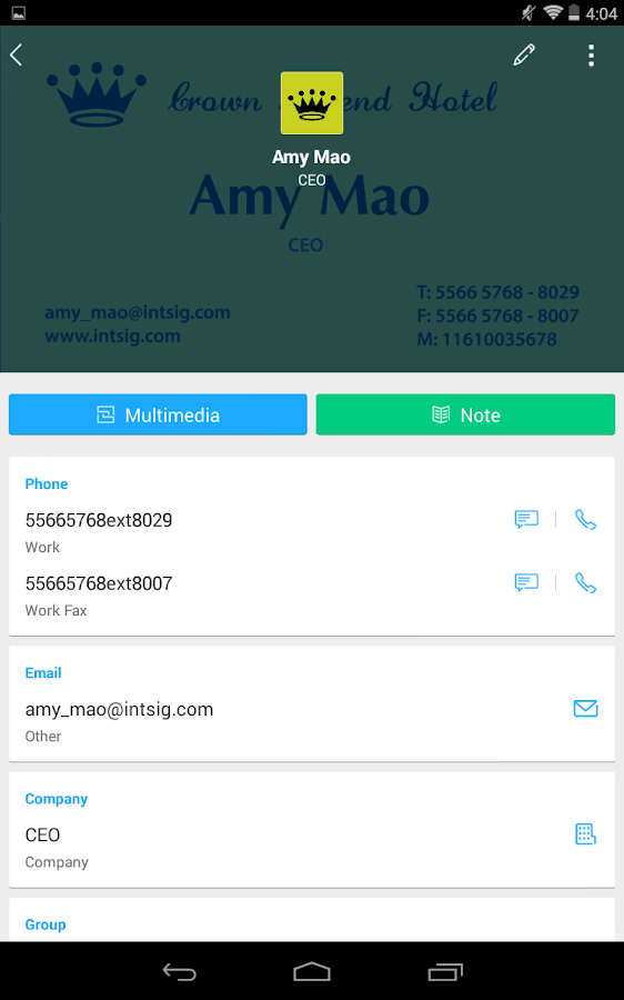 CamCard Business Card Reader Android Apps on Google Play
