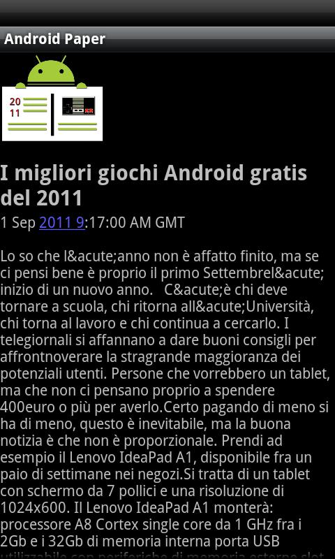 Android Paper - screenshot