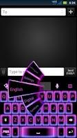 Screenshot of GO Keyboard Girly Neon Theme