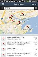 Screenshot of Salem Five Mobile
