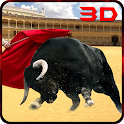 Angry Bull Attack Arena Sim 3D icon
