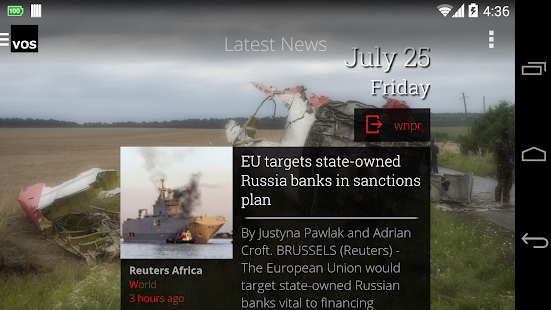 VOS World Breaking News Videos- screenshot thumbnail