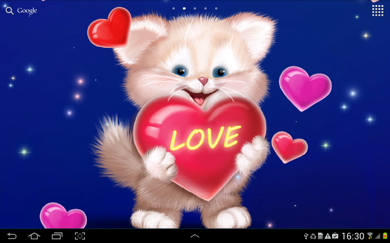 Cute Cat Live Wallpaper Poster