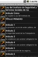 Screenshot of Ley del ISSSTE