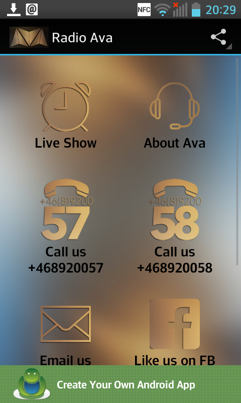Radio Ava- screenshot