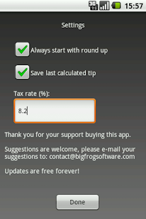 EZ Tip Calculator Free - screenshot thumbnail