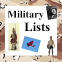 World History Lists - MILITARY