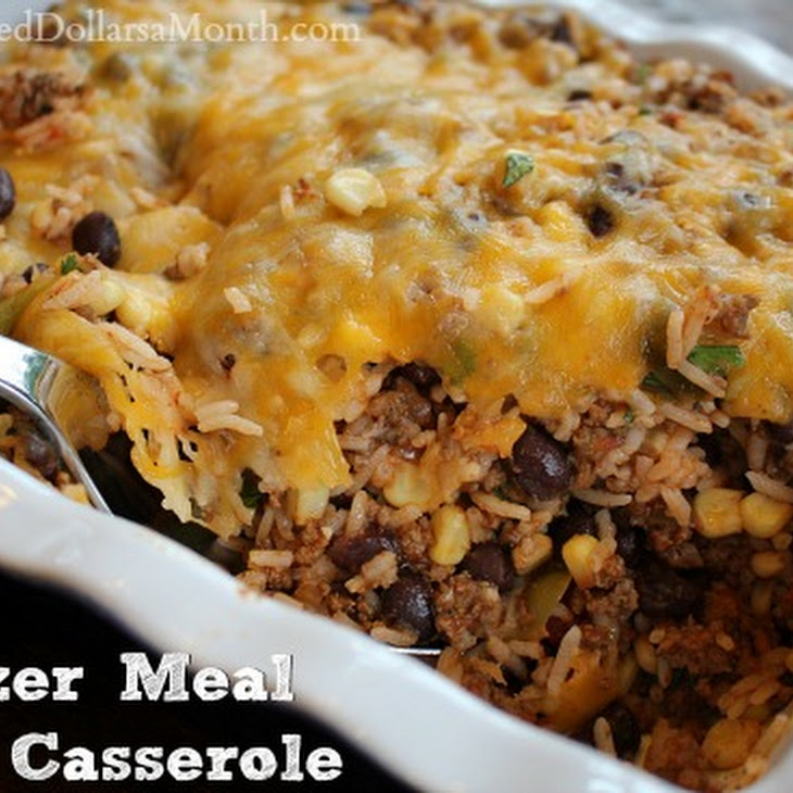 Ground Beef Freezer Meal – Taco Casserole Recipe