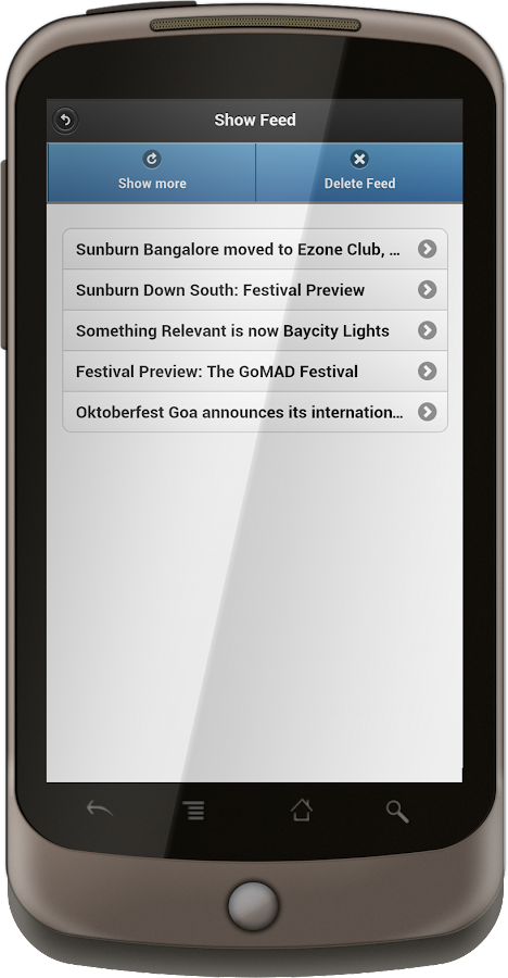 SalvoSM RSS News Feed Reader- screenshot