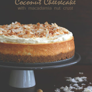Coconut Cheesecake with Macadamia Nut Crust Recipe
