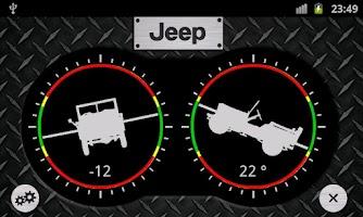Screenshot of Jeep Inclinometer Pro