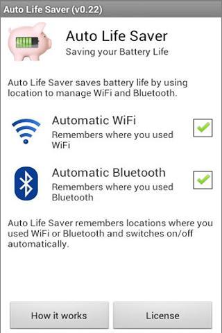AutoLifeSaver WiFi + Bluetooth - screenshot