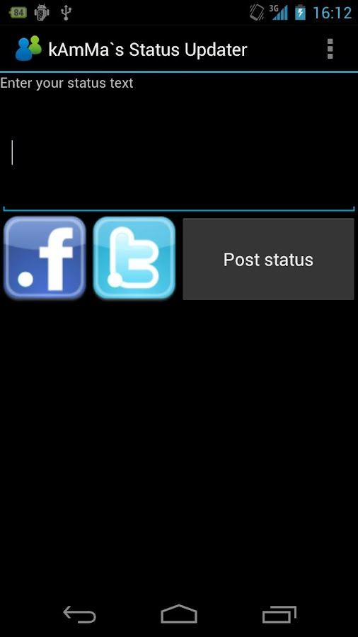 kAmMa`s Status Updater - screenshot