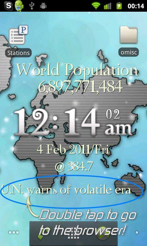 One World LiveWP w/ RSS Reader- screenshot
