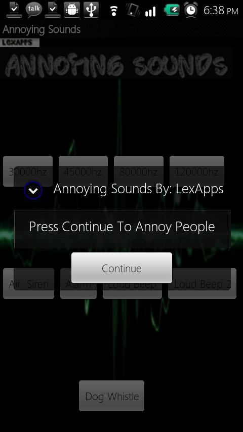 Annoying Sounds - screenshot
