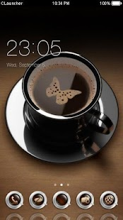 I Love Coffee Theme C Launcher - náhled