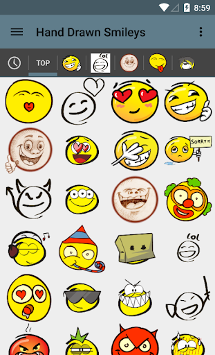 Hand Drawn Smileys for chat