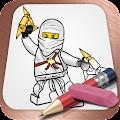 Easy Draw: Lego Ninjago