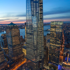 World Trade Center Reborn by Jack Turkel - Buildings & Architecture Office Buildings & Hotels ( wtc, new_york, freedom_tower, city at night, street at night, park at night, nightlife, night life, nighttime in the city )