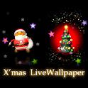 X*mas santa tree LiveWallpaper logo