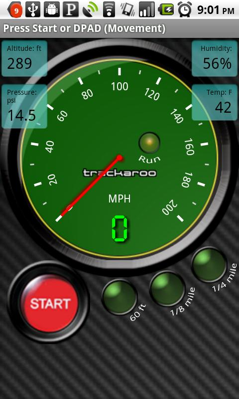 Green Speedo Dynomaster Layout - screenshot