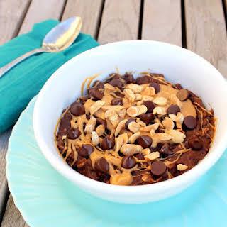 Chocolate Peanut Butter Oatmeal (GF, SF, Vegan).