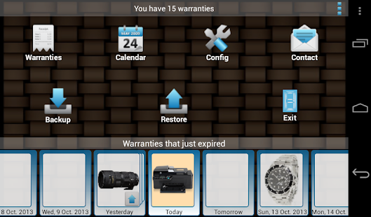 My Warranties - screenshot thumbnail