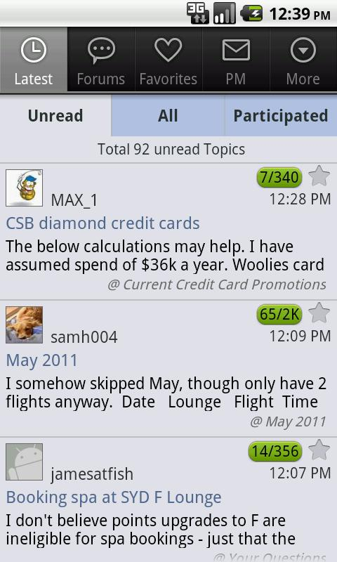 Aust Frequent Flyer - Mobile - screenshot