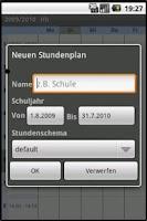 Screenshot of Schedule