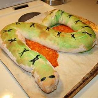Spooky Calzone Snake