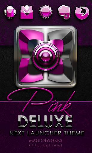 Next Launcher Theme Pink Delux