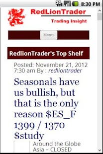 RedlionTrader - Market Insight - screenshot thumbnail