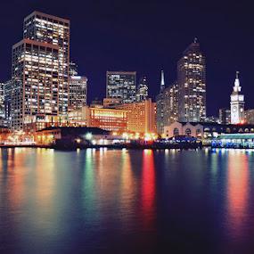 Night & Light of San Francisco by Hany Todros - City,  Street & Park  Night ( sanfrancisco, night, usa, light, city )