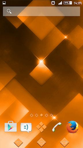 eXPERIAnz Theme Sparkle Orange