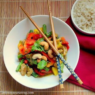 Thai Mango Seitan Stir Fry.