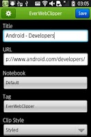 Screenshot of EverWebClipper for Evernote