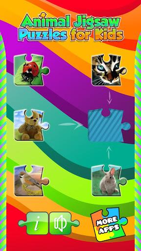 兒童動物拼圖