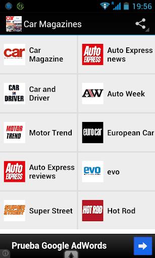Car Magazines RSS reader