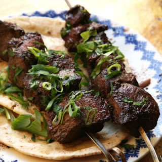 Pork Kebabs with Cucumber–Mint Yogurt Sauce Recipe