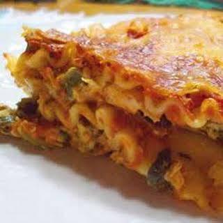 Cream Cheese Chicken Lasagna.