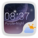 PURPLENIGHT THEME GO WEATHEREX icon