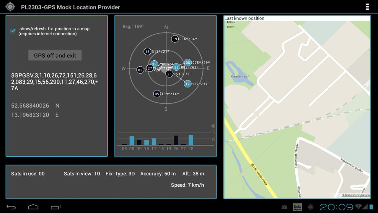 PL2303GPS MockLocationProvider - screenshot