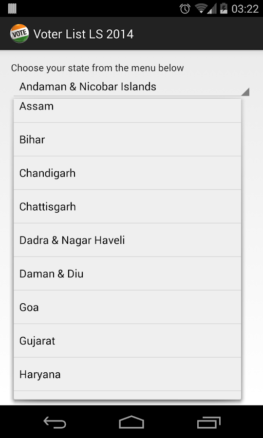 Voter List India States 2015 - Android Apps on Google Play
