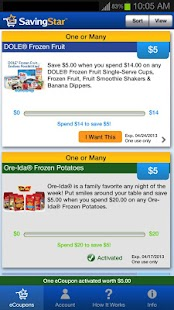 SavingStar Grocery eCoupons - screenshot thumbnail