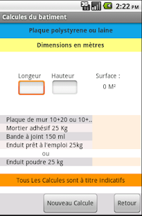 Calculs du b timent android apps on google play - Calcul quantite beton ...