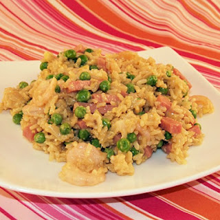 Fried Brown Rice with Ham and Shrimp Recipe